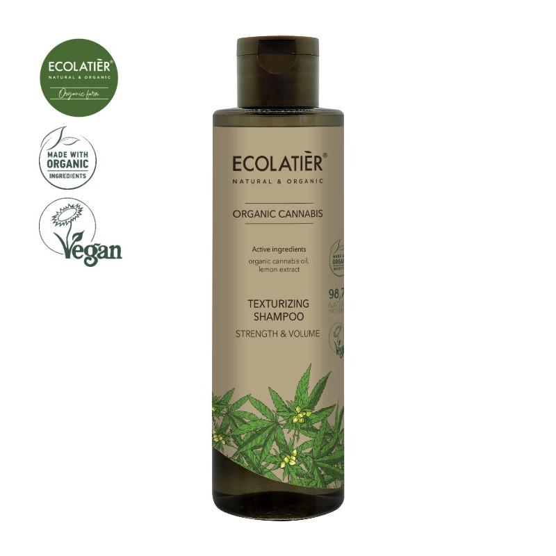 EcoLab - Ecolatier - Cannabis - teksturyzujący szampon - moc i objętość