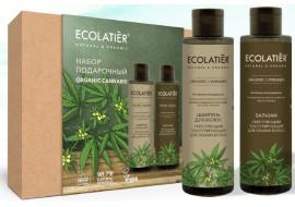 Zestaw Ecolab Organic Cannabis - szampon + balsam teksturyzujący - moc i objętość