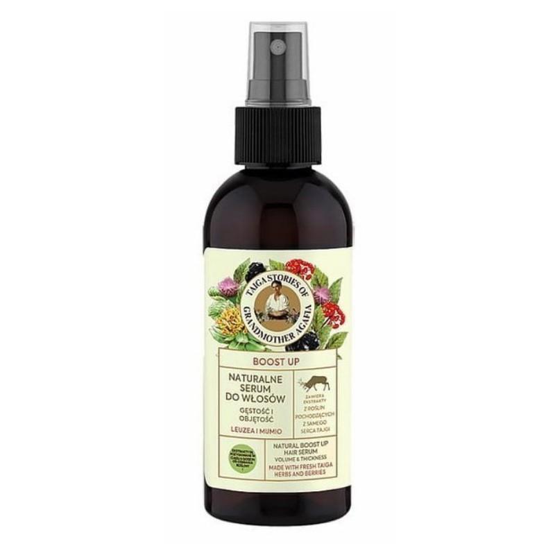 Receptury Babuszki Agafii - naturalne serum do włosów Leuzea i Mumio