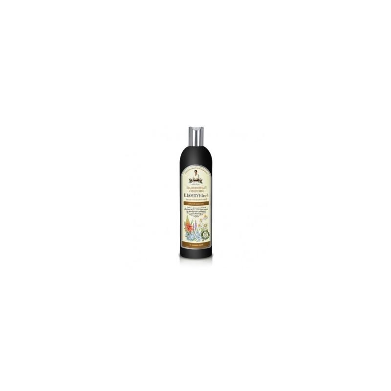 Recepury Babuszki Agafii - syberyjski szampon przeciw wypadaniu włosów Nº 4 na kwiatowym propolisie