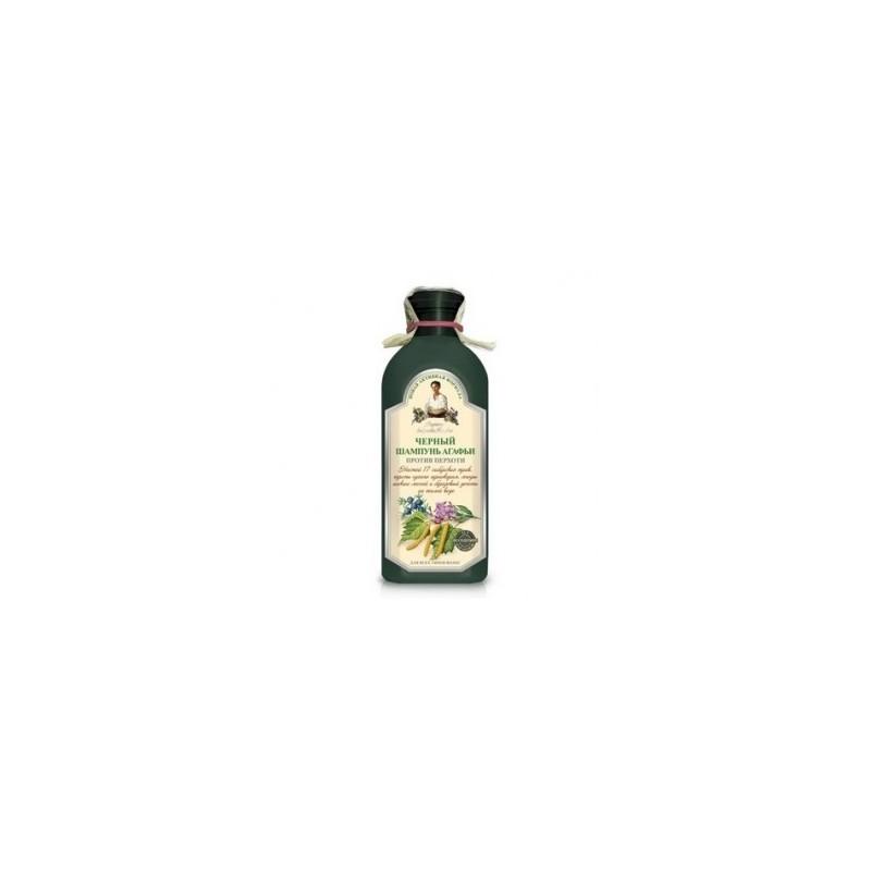 Recepury Babuszki Agafii - szampon ziołowy czarny - przeciwłupieżowy