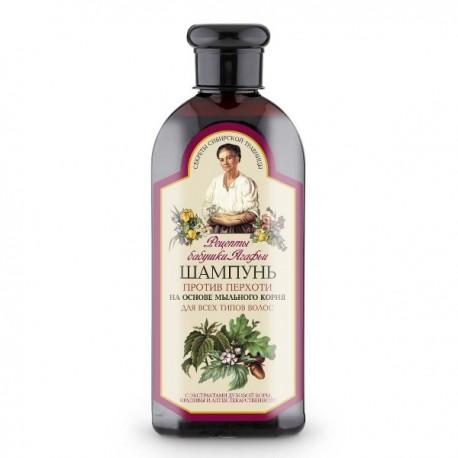 Receptury Babuszki Agafii – szampon przeciwłupieżowy do wszystkich włosów, mydlnica lekarska