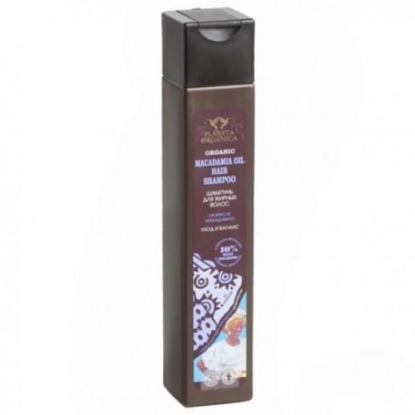 Planeta Organica – szampon do włosów tłustych – olej makadamia 10%