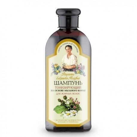Receptury Babci Agafii – szampon tonizujący włosów przetłuszczających się – mydlnica lekarska