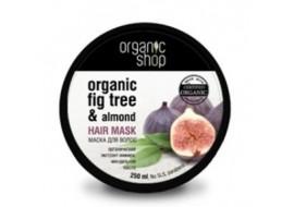 Organic Shop – maska do włosów grecka figa i olej migdałowy – jedwabny blask i gładkość