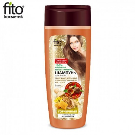 Fitokosmetik – szampon stymulujący wzrost włosów z gorczycą, olejkiem z kiełków pszenicy i miodem
