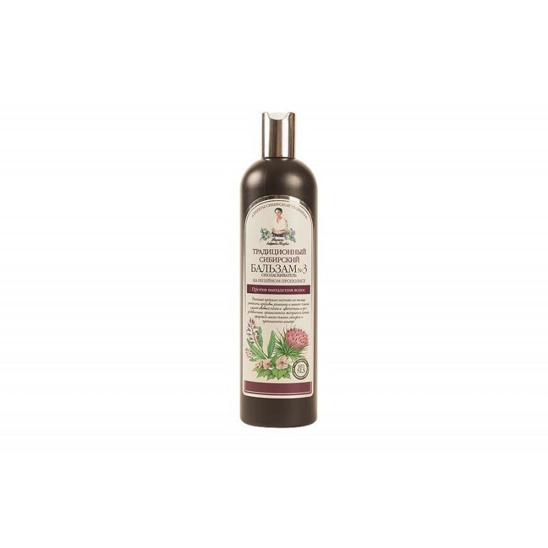Recepury Babuszki Agafii - balsam przeciw wypadaniu włosów na łopianowym propolisie No3