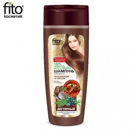 Fitokosmetik – przeciwłupieżowy szampon wzmacniający z dziegciem, szałwią i olejkiem jałowcowym