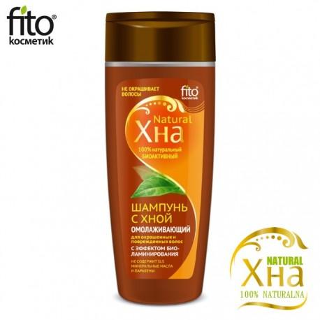 Fitokosmetik – Bioaktywny szampon z henną – odbudowa i odmłodzenie włosów farbowanych