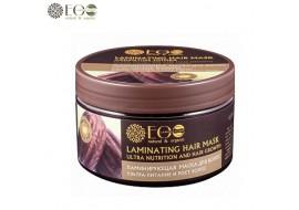 EcoLab – Laminująca maska do włosów – ultraodżywienie i wzrost – olej jojoba, kompleks ceramidowy, kompleks kwasów owocowych