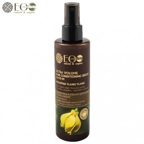 EcoLab – Niezmywalne serum-balsam do cienkich i łamliwych włosów – ultraobjętość – filipiński ylang-ylang, kompleks ceramidów