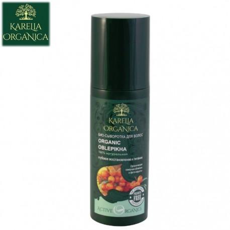 Karelia Organica – bio serum przeciw wypadaniu włosów – głęboka odnowa i odżywienie – rokitnik i fitokeratyna