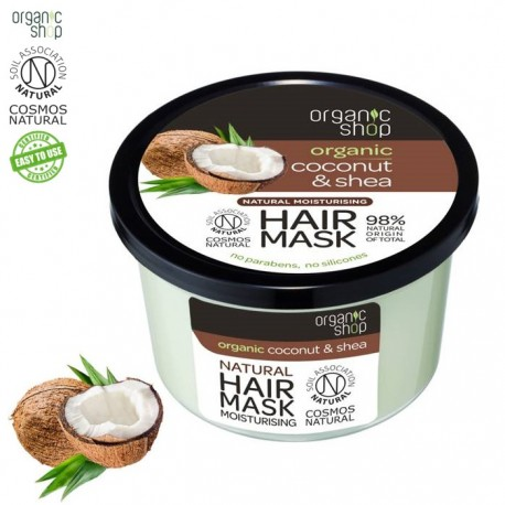 Organic shop – nawilżająca maska kokos i shea – miękkość i odżywienie