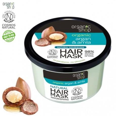 """Organic shop – maska do włosów """"siła i niezwykły blask"""" – argan i amla"""