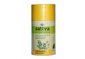 Henna jasny blond - farba Sattva Ayurveda - rozjaśnienie ciemnych włosów
