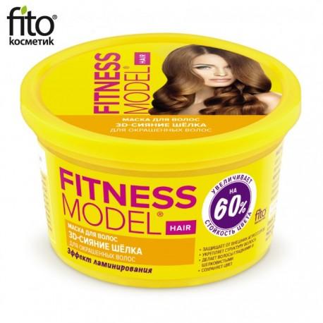 Fitokosmetik – Fitnessmodel – maska do włosów farbowanych 3D jedwabny blask
