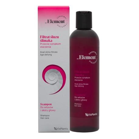 Vis Plantis – Element – filtrat ślimaka – przeciwstarzeniowy szampon do włosów i skóry głowy