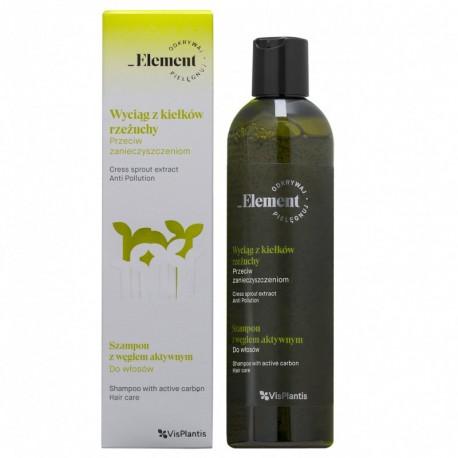 Vis Plantis – Element – wyciąg z kiełków rzeżuchy i aktywnym węglem – szampon przeciw zanieczyszczeniom