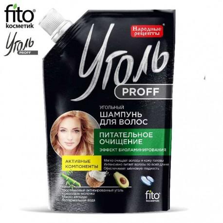 """Fitokosmetik – Ugoł Proff – węglowy szampon do włosów """"Odżywcze oczyszczenie"""""""
