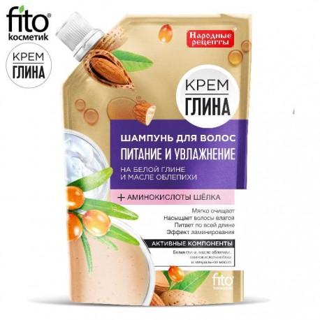 """Fitokosmetik – szampon """"Odżywienie i nawilżenie"""" – biała glina i olej z rokitnika"""