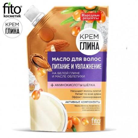"""Fitokosmetik – olejek do włosów """"Odżywienie i nawilżenie"""" – biała glina i olej rokitnikowy"""