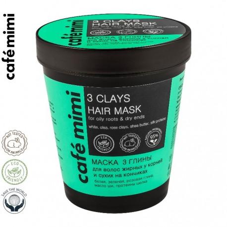 Le Cafe de Beaute – Cafe Mimi – maska 3 glinki do włosów tłustych u nasady i suchych na końcach