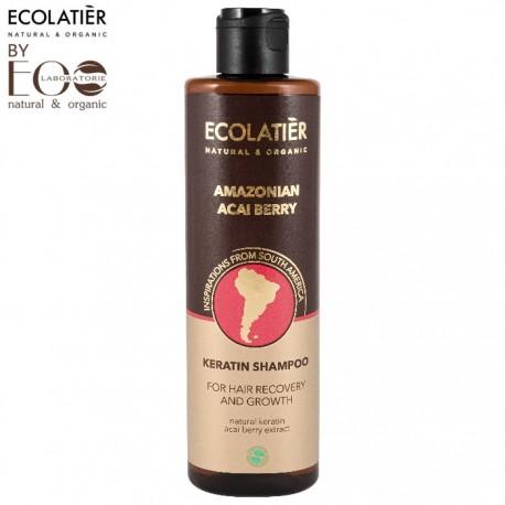 EcoLab Ecolatier – keratynowy szampon do włosów – regeneracja i wzrost Amazonian Acai Berry