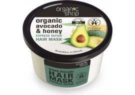 Organic shop – maska avocado, miód i keratyna – odbudowująca