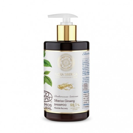 Natura Siberica – Flora Siberica – szampon odbudowujący włosy Siberian Ginseng